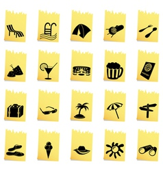 Travel set of different web icons vector image vector image