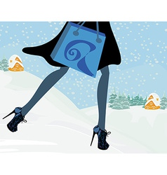 Winter sale after holidays vector image vector image