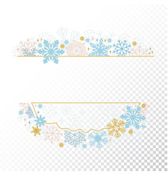 xmas card snowflake frame transparent background vector image vector image