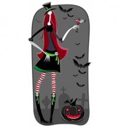 zombie girl vector image vector image