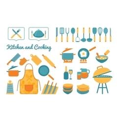Cooking utensils set vector image