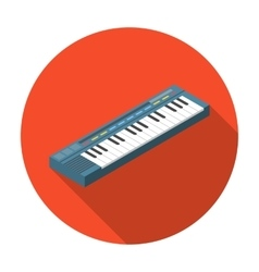 Synthesizer icon in flat style isolated on white vector