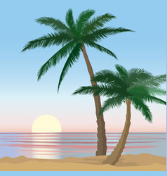 summer holidays background seaside view poster vector image