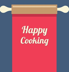 Happy cooking concept vector