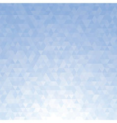 Abstract blue triangle background vector