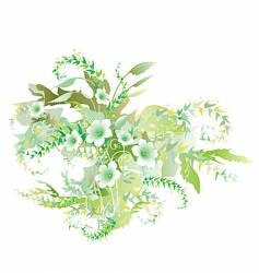 Green flowers vector