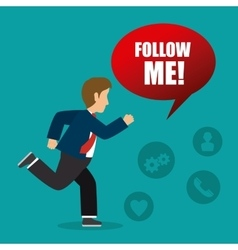 Follow me social and business vector