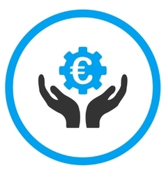 Euro maintenance rounded icon vector