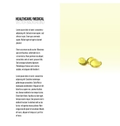 Fish oil pills isolated on yellow background vector