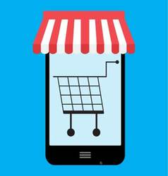 Shop store online mobile vector