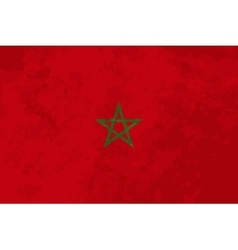 True proportions morocco flag with texture vector