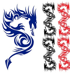 Asian tattoo dragon vector