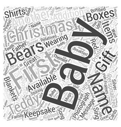 Baby christmas gift word cloud concept vector