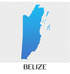 Belize map in north america continent design vector