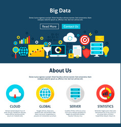 Big data website design vector