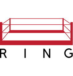 Box fight club ring design template vector