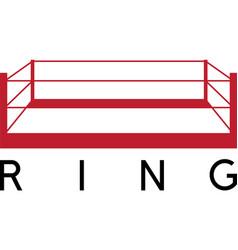 Box fight club ring design template vector