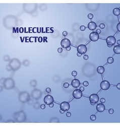 Chemical nanotechnology background with 3d vector
