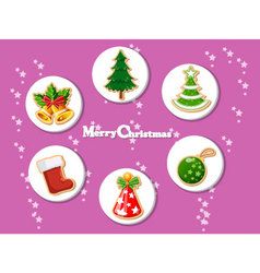 Christmas holiday dresses collection of icons 9 vector image vector image