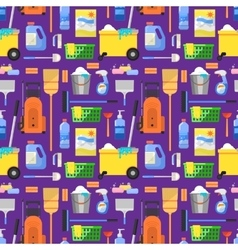 Cleaning icons set background vector image vector image