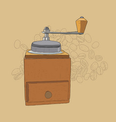 coffee grinder freehand pencil drawing vector image vector image