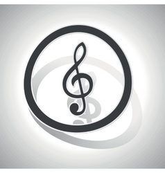 Curved music sign icon vector