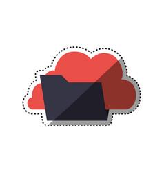 folder data symbol vector image