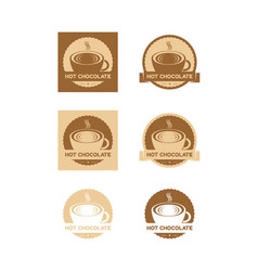 Hot chocolate logo vector