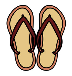 Isolated pair of sandals vector