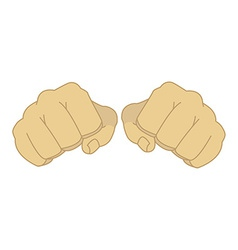 Male clenched fists vector image vector image