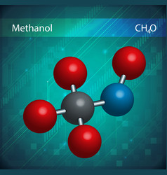 Methanol formula vector