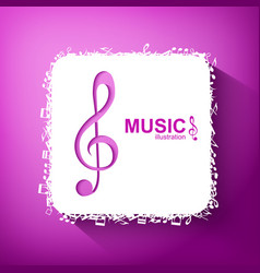 Music abstract template vector
