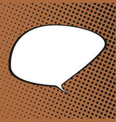 Speech bubble on orange retro background vector