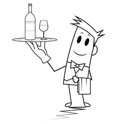 Square guy - waiter vector image