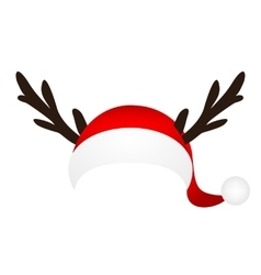 Template for a fun photo of santa claus hat and vector
