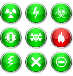 Warning round icons vector