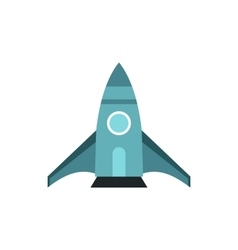 Spaceship icon in flat style vector