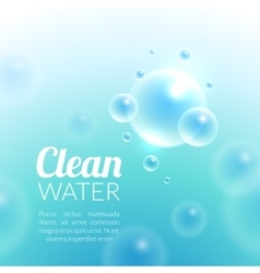 Clean purified water background vector