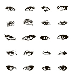 Woman eyes  beautiful female eye set or ink vector