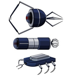 Different design of nanobots vector image