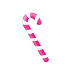 Caramel candy cane icon vector