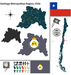 Map of Santiago Metropolitan vector image
