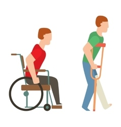 Trauma accident wheelchair safety people vector