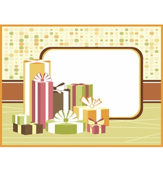 Retro background with gifts vector image