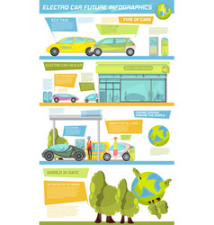 electro car infographics vector image