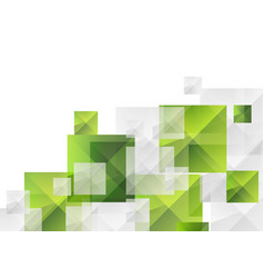 Abstract futuristic technology green grey squares vector