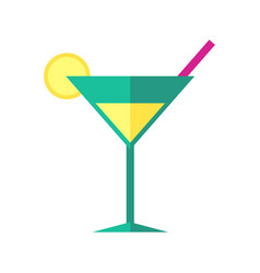 bright coloured cocktail vector image