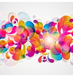 Abstract background with bright circles and vector