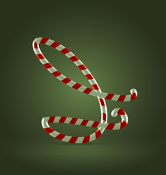 Candy cane abc i vector