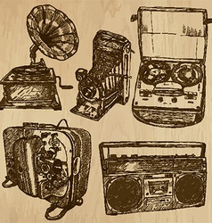 Old objects no4 - hand drawn collection vector